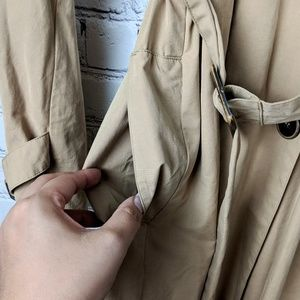Max Studio Double Breasted Trench Coat Size M